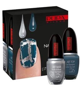 nail art kit silver grey blue