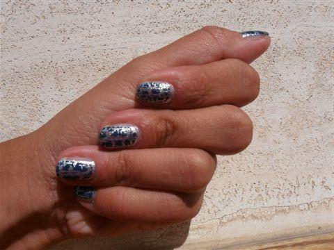 Unghie silver & grey blu