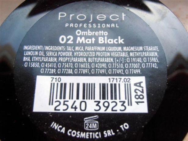 Ombretto nero 2 - inci