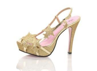 scarpe-a-tacco-star-oro-leg