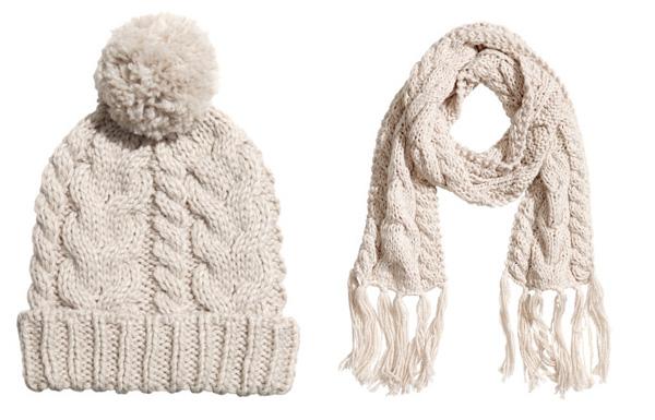 H&M - Cuffia e sciarpa - 7.95€ e 14.95€