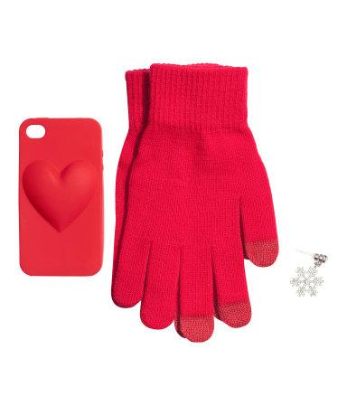 H&M - Set cover iPhone 4/4s e guanti smartphone - 9.95€