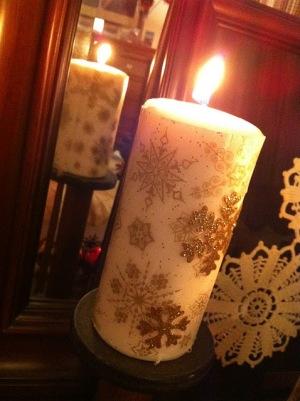 DYI Xmas Candles