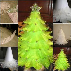 DIY-Feather-Christmas-Tree
