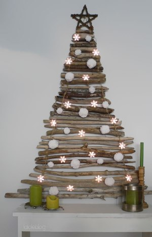 Dry Wood Christmas Tree