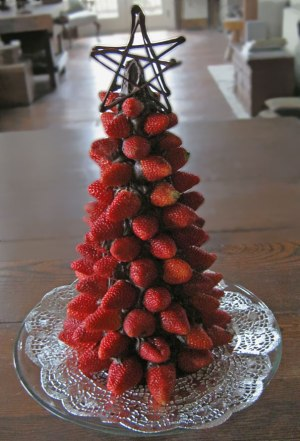 Strawberry Chocolate Christmas Tree