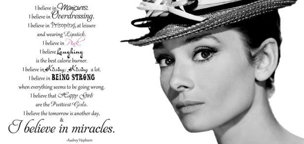 I believe in manicure - Audrey Hepburn