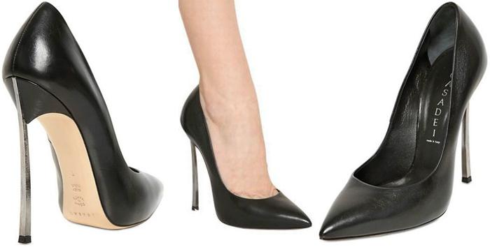 Black-leather-casadei-blade-pump