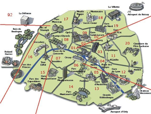 Cartina Parigi Con Quartieri.Parigi In Tre Giorni Jesslan