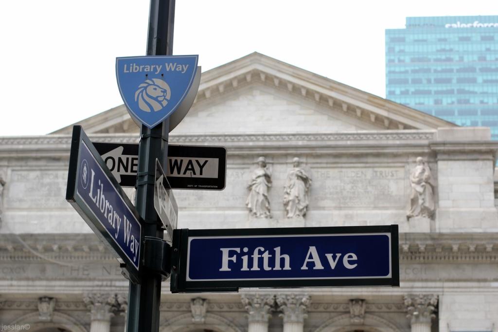 5th Avenue davanti alla NY Public Library