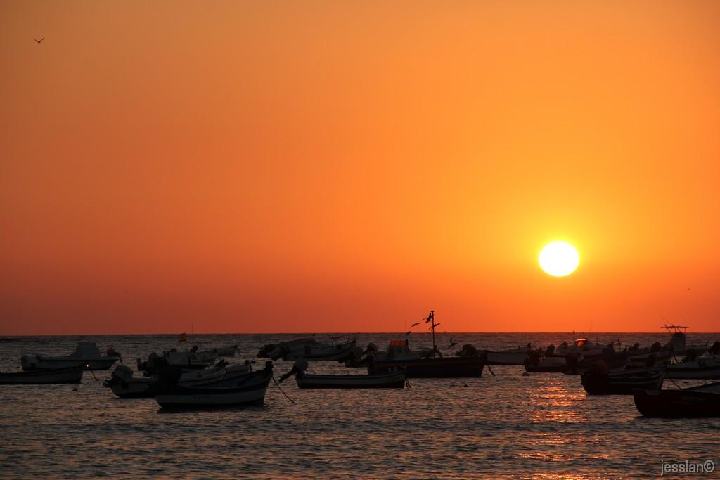 Cadice - Tramonto a Playa de la Caleta