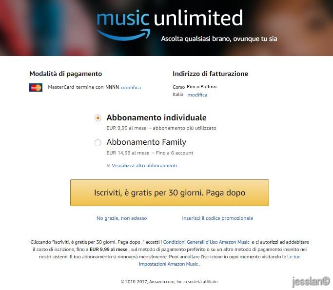 Amazon Music Unlimited - pagamento