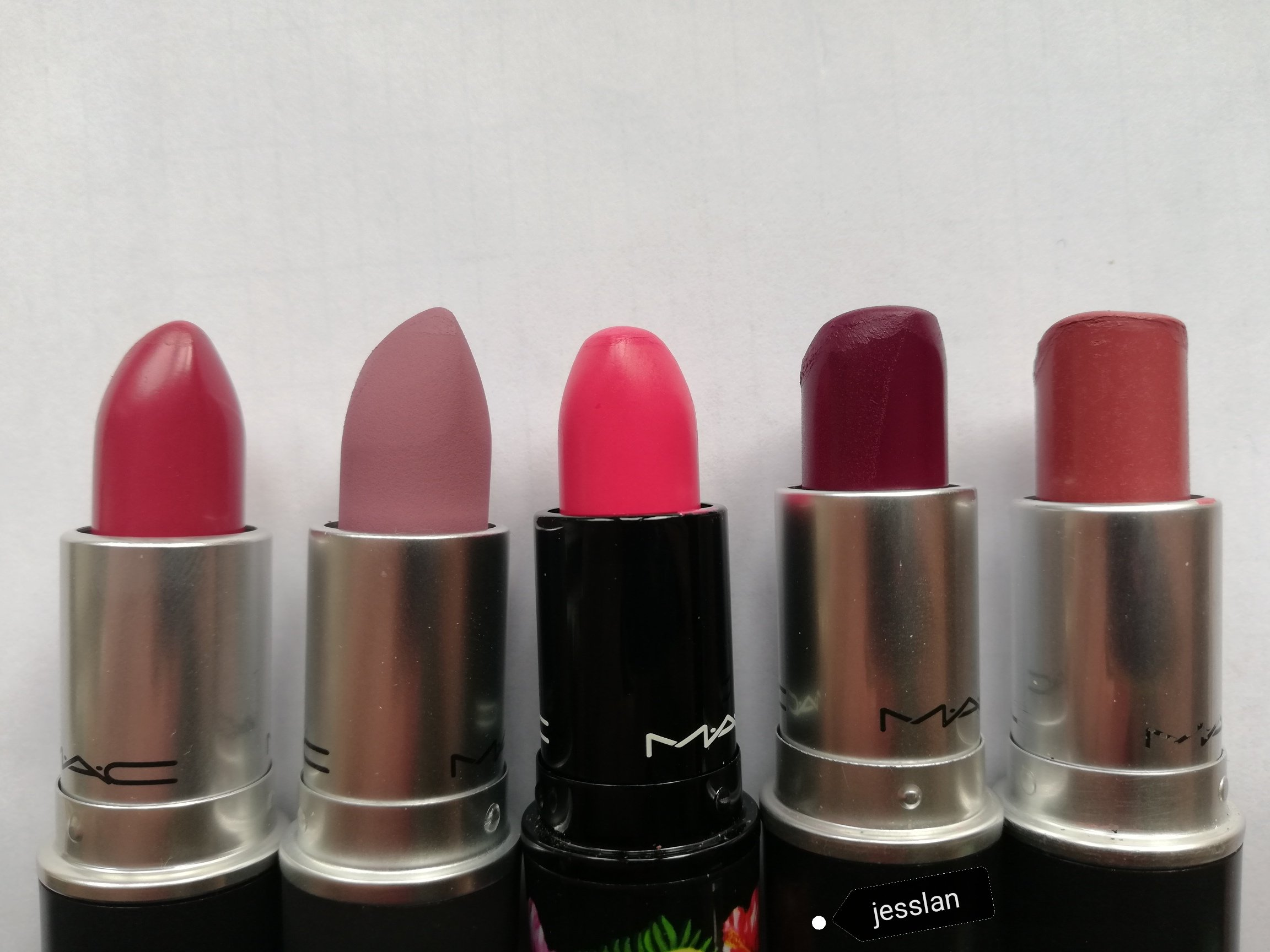 Mac Cosmetics - Craving, Ripened, Love at first bite, Rebel, Twig